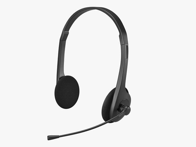 headphone 3d model low-poly max obj mtl fbx 1