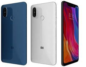 3D Xiaomi Mi 8 All Colors