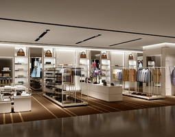 clothes store shop 3d model max