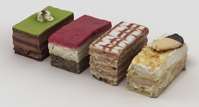 cake collection 3d model max obj mtl fbx 1
