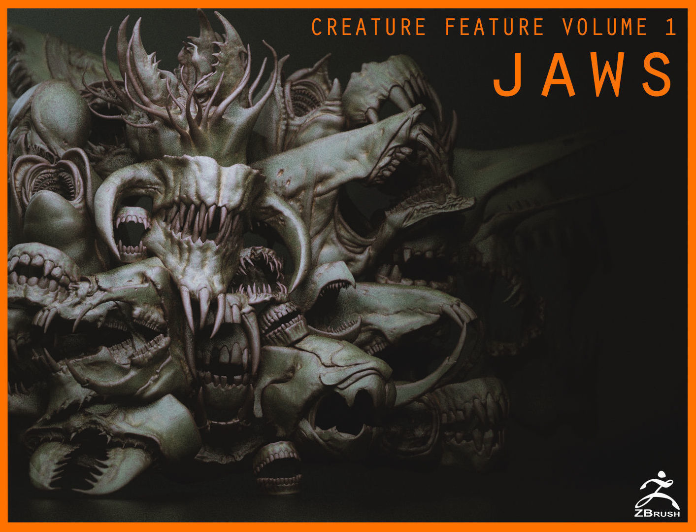 JAWS - 33 Monster Mouths and Skulls with IMM Brush