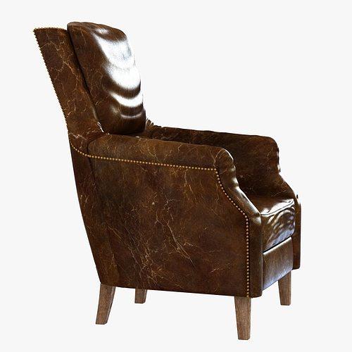 ... Chelsea Classic Man Room Distressed Cigar Leather Arm Chair 3d Model  Max Obj 3ds Fbx Mtl ...