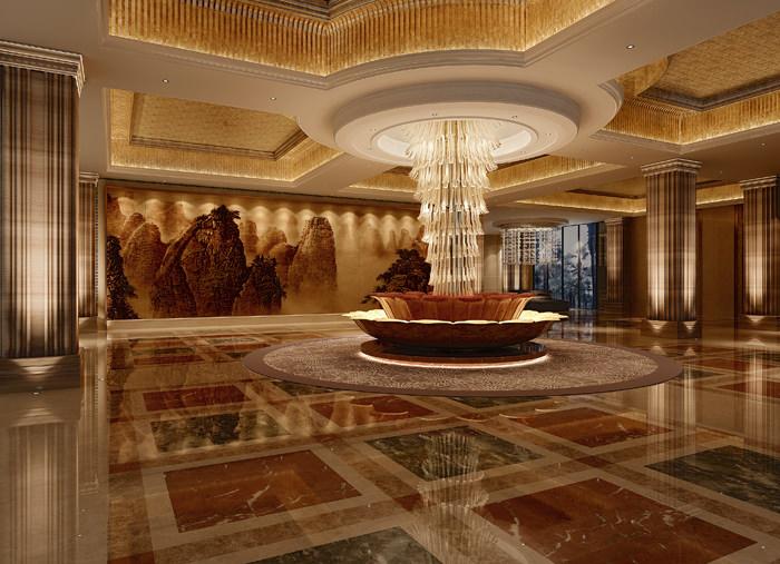 Luxury Hotel Lobby Interior 3d Model Max Cgtrader Com