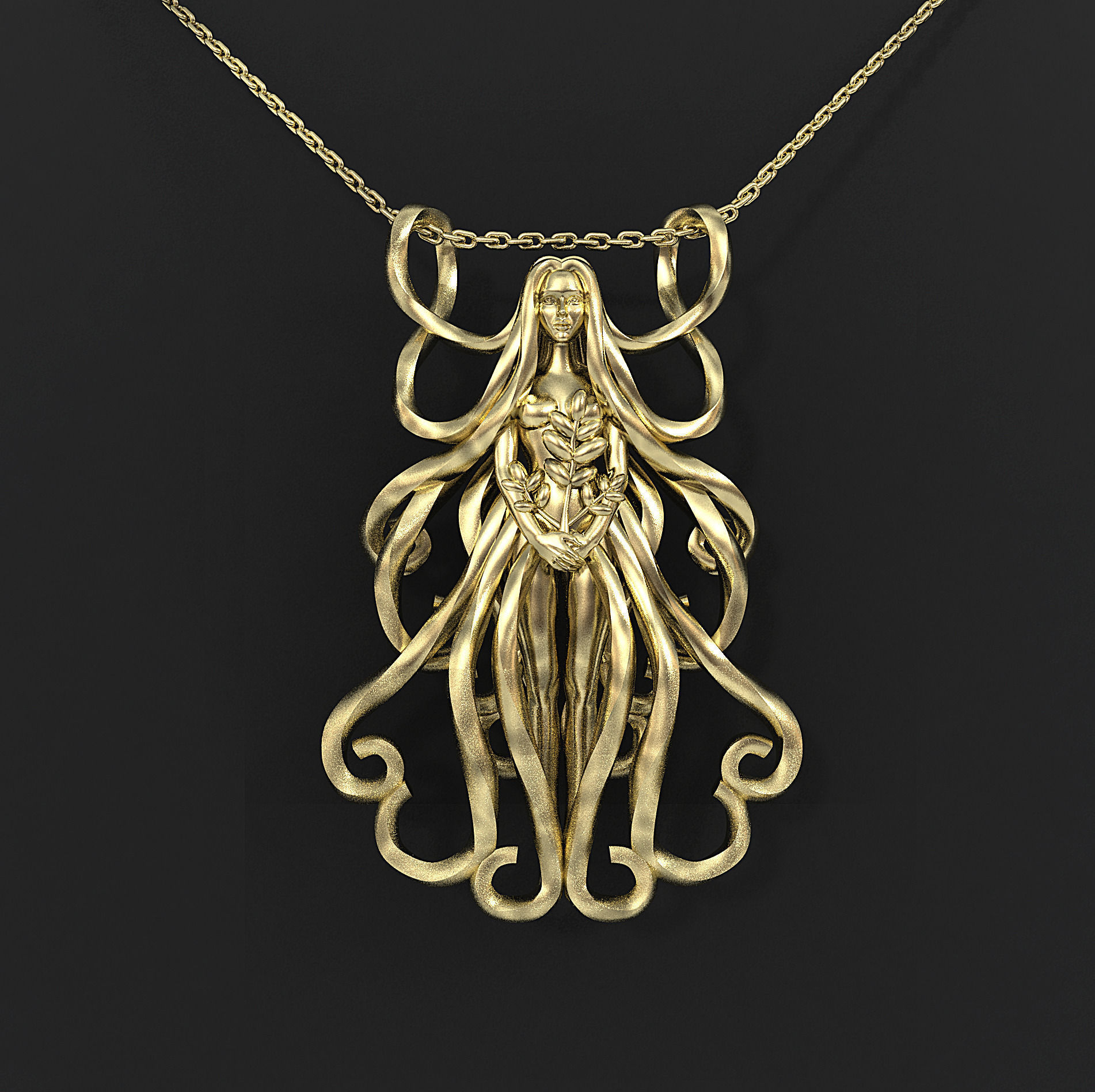 stilnest gold virgo en designer sn anna silver plated saccone gb necklace by in