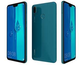 Huawei Y9 2019 Blue 3D