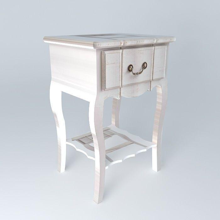 Nightstand josephine maisons du monde 3d model max obj 3ds - Table josephine maison du monde ...