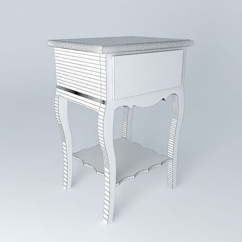 nightstand josephine maisons du monde 3d model max obj 3ds fbx stl dae. Black Bedroom Furniture Sets. Home Design Ideas