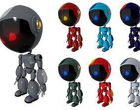 Rigged 7 Robot Models 3D asset