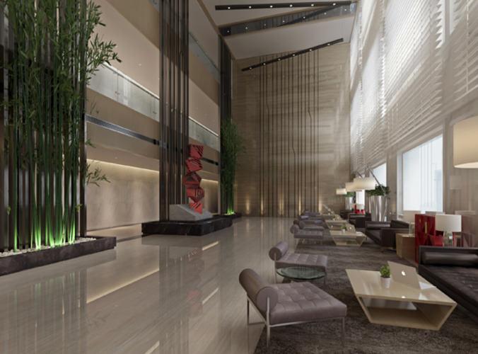 Modern Hotel Lobby Interior 45.00 $