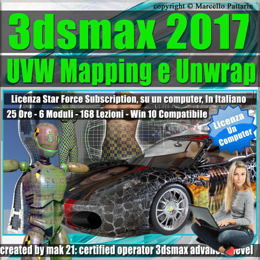3ds max 2017 UVW Mapping e Unwrap  un Computer