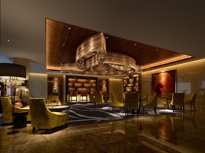 Hotel restaurant bar d model max cgtrader