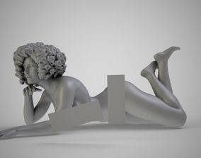 Woman on the Beach 3D printable model