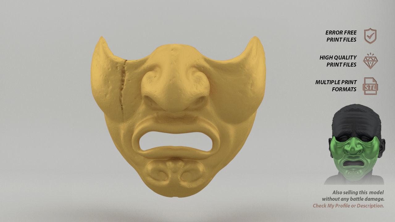 Mempo Japanese Mask  battle-worn version