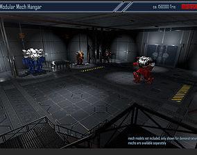 Modular Mech Hangar 3D model