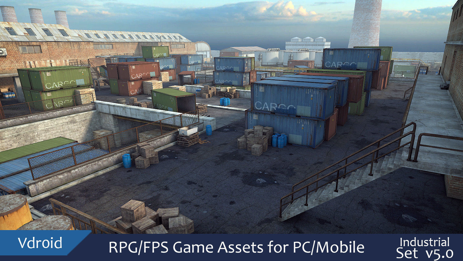 RPG FPS Game Assets for PC Mobile Industrial Set v5