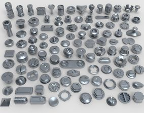 bolts and knobs-part-5 -106 pieces 3D model