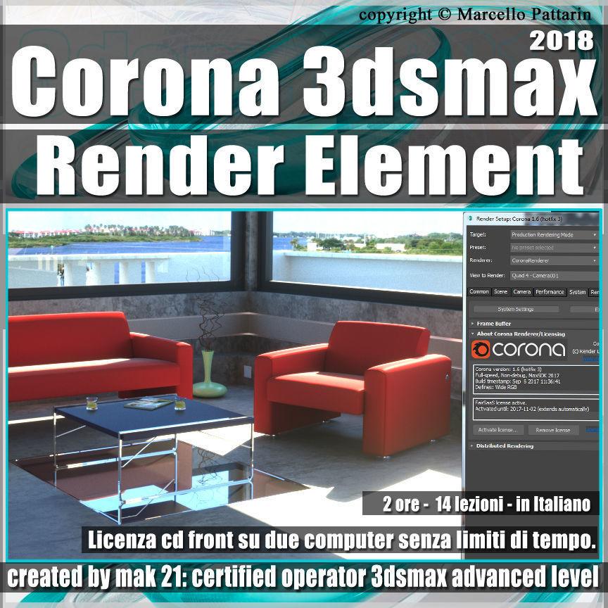 Corona 1 6 in 3dsmax 2018 Render Element Vol 5 Cd Front