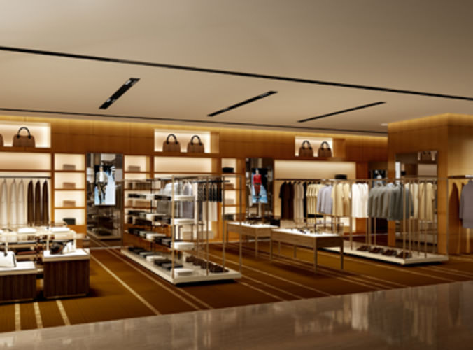 Clothing Store Shop 3d Model Max Cgtrader Com