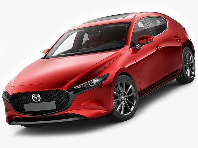 mazda 3 hatchback 2019 3d model max obj mtl 3ds fbx c4d lwo lw lws 1