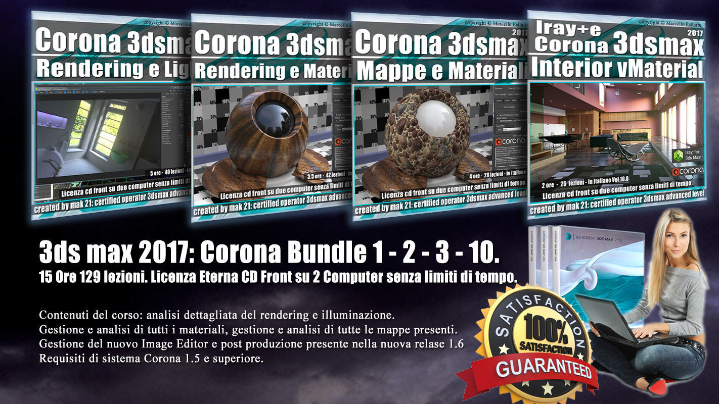 Corona in 3dsmax 2017 Bundle Vol 1  2  3 10 Cd Front