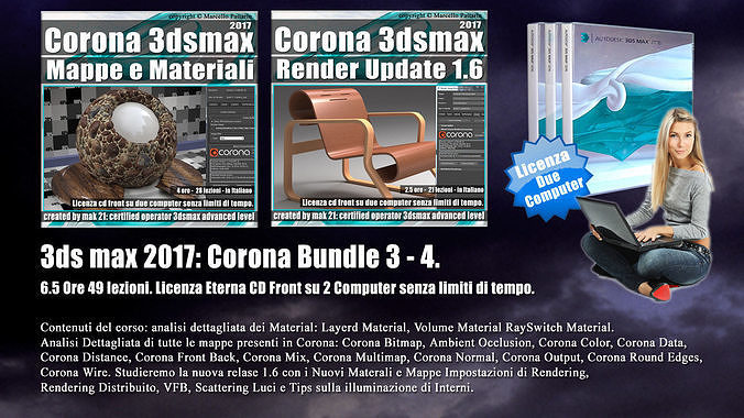 corona in 3dsmax 2017 bundle vol 3 e 4 cd front 3d model pdf 1