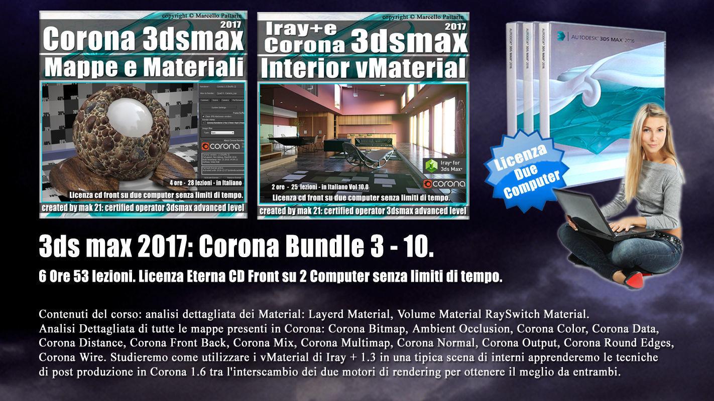 Corona in 3dsmax 2017 Bundle Vol 3 e 10 Cd Front