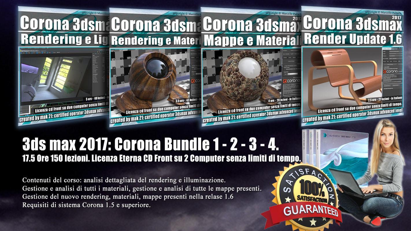 Corona in 3dsmax 2017 Bundle Vol 1  2  3  4 Cd Front