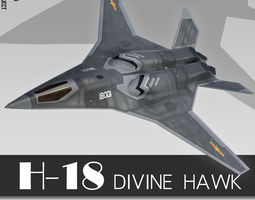 3D H-18 Chinese Stealth Bomber