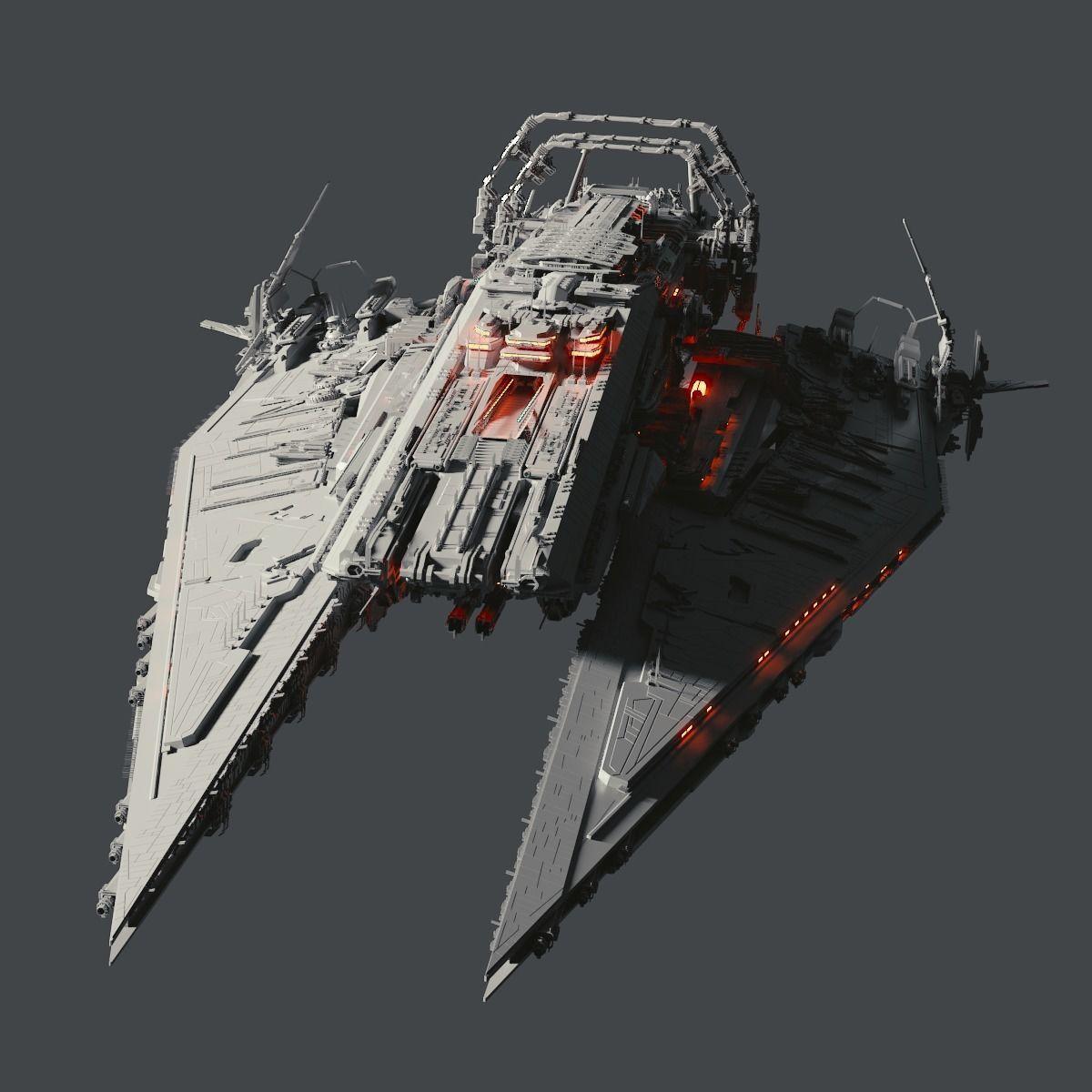 Heavy Detailed Starship