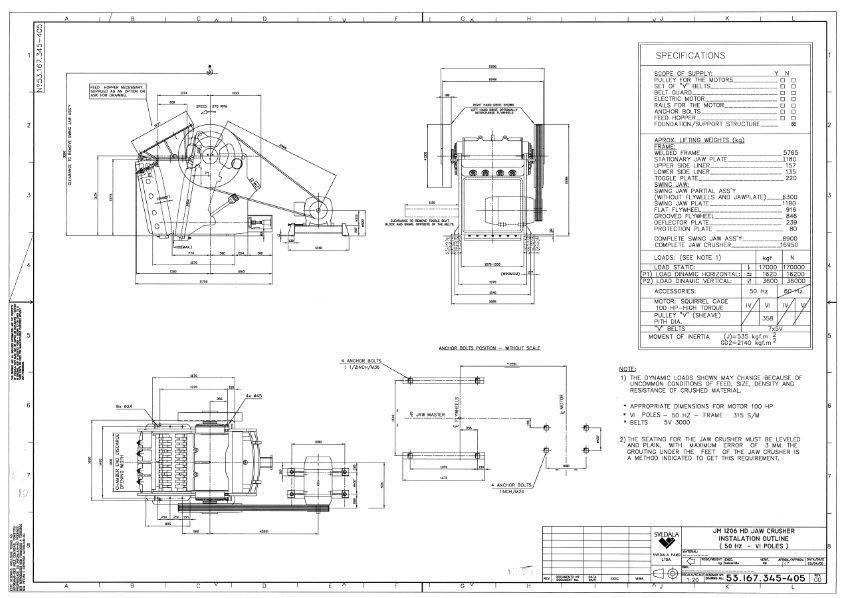 Sandvik JM1206 jaw crusher complete drawing | 3D model