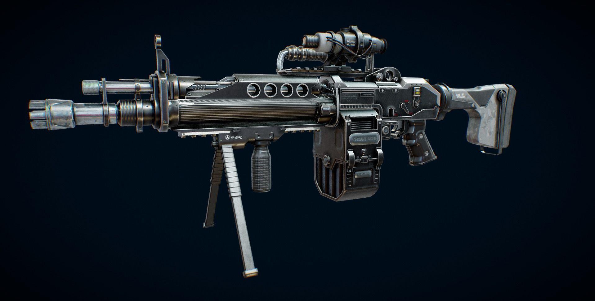 Machine Gun 3D asset | CGTrader
