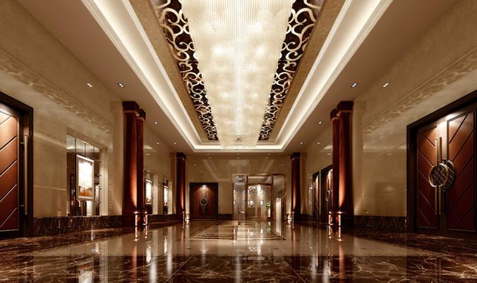 Modern Hotel Hall Lobby 3d Model Max