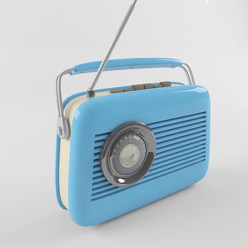 retro vintage radio 3d model max obj mtl fbx 1