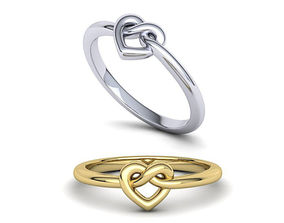 Heart Infinity Knot ring 3dmodel printable