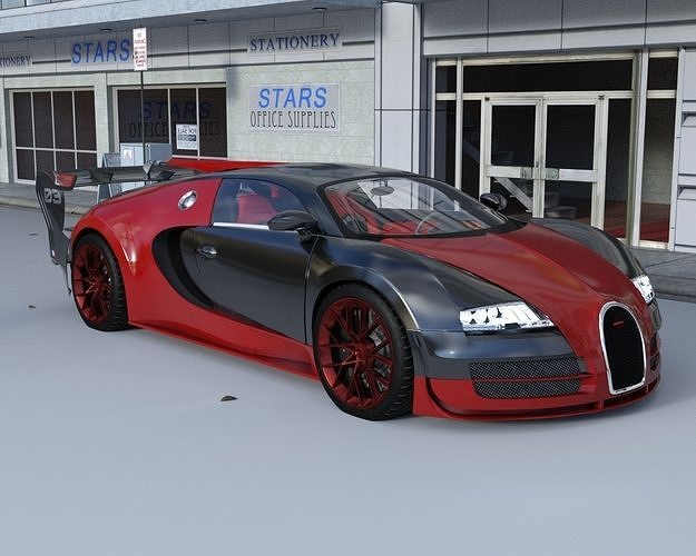 sport car 3d model obj mtl fbx dae 1