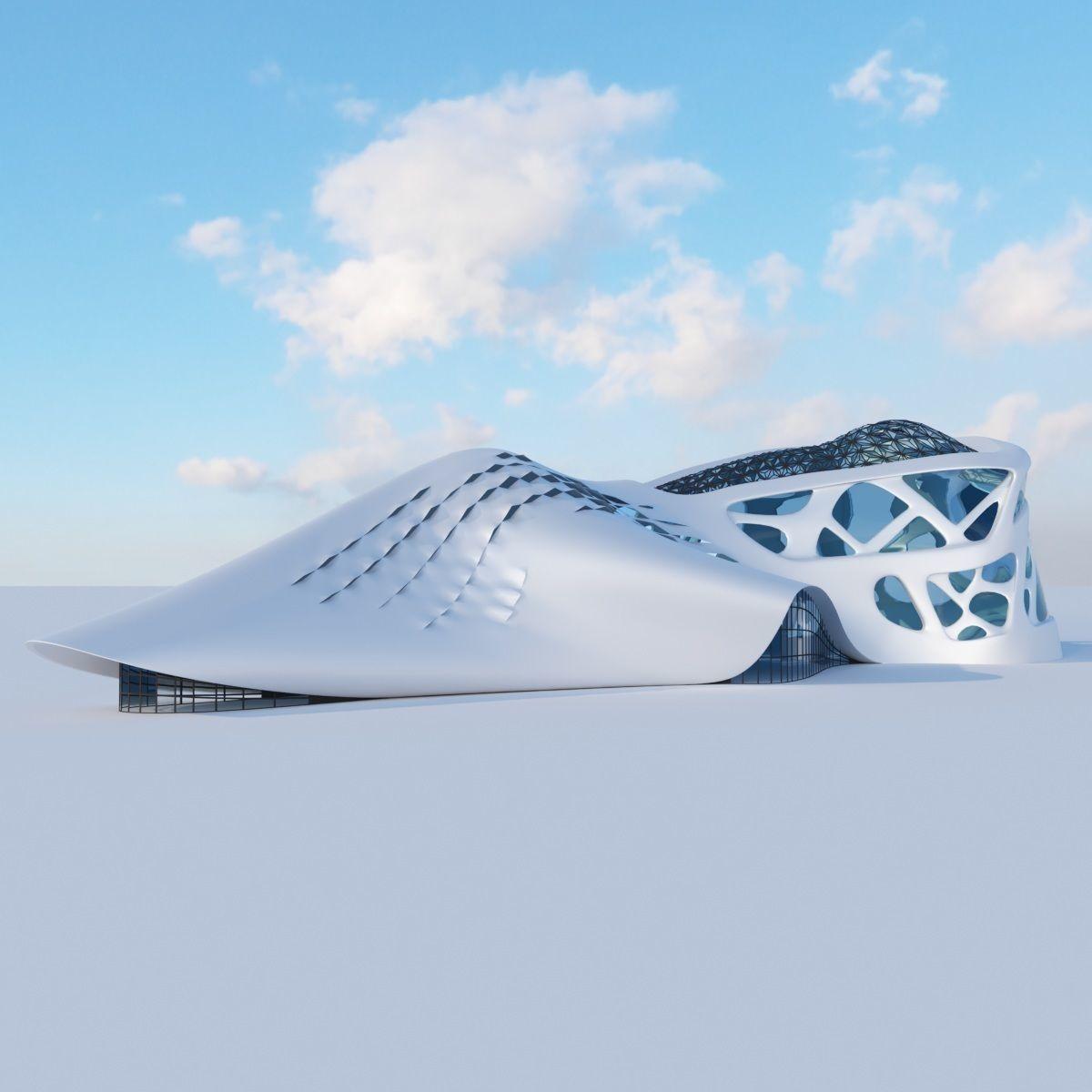 Futuristic building 6