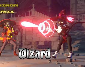 Acheron Wizard Outfit 3D asset