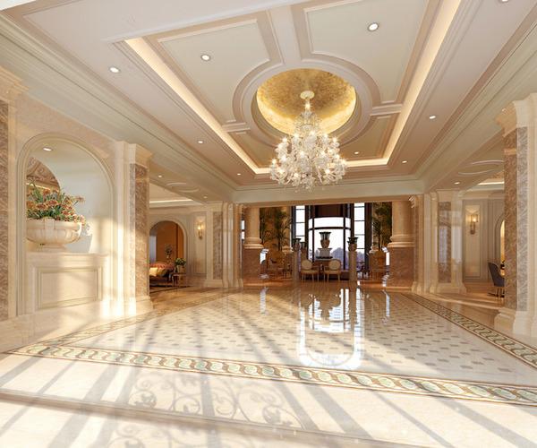 Foyer Luxury Jewelry : Luxury hotel lobby hall d model cgtrader
