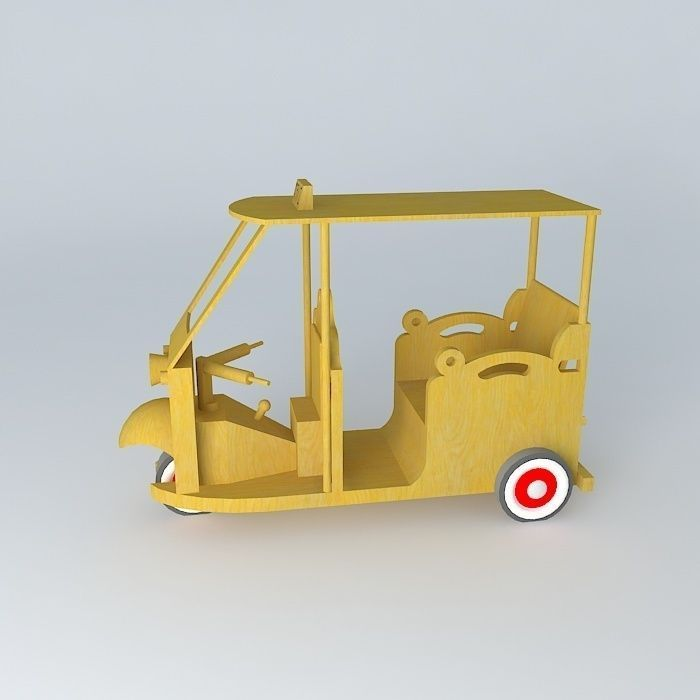 wooden thailand taxi free 3D Model MAX OBJ 3DS FBX STL DAE | CGTrader ...