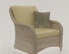 3D model Rattan single Sofa