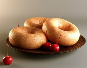 3D Doughnuts with Cherries