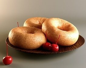 3D model Doughnuts with Cherries