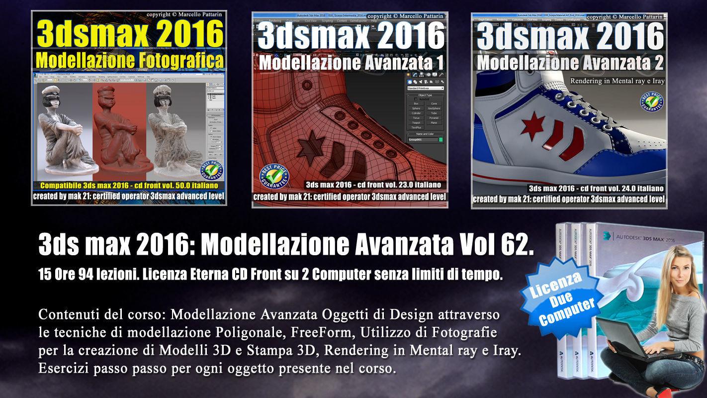 062 3ds max 2016 Modellazione Avanzata Cd Front V 62