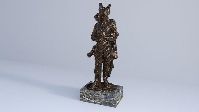gallic barbarian warrior statue 3d model obj mtl fbx c4d lwo lw lws 1