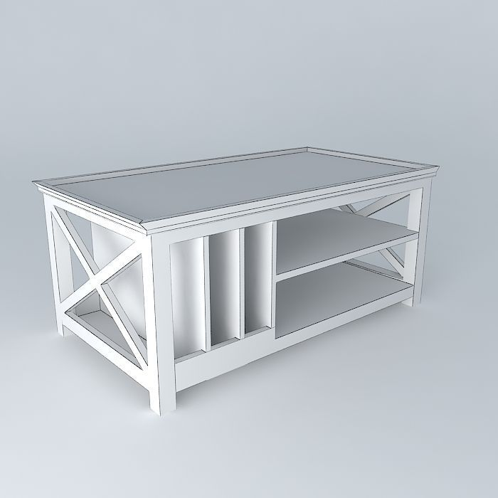 Coffee table newport maisons du monde 3d model max obj for Armoire newport maison du monde