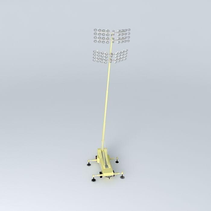 Portable Flood Light Tower Free 3D Model .max .obj .3ds