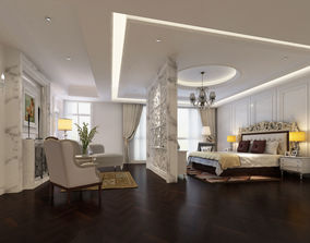 3D model Bedroom Interior Scene 02