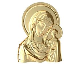 3D print model bible Mary pendant