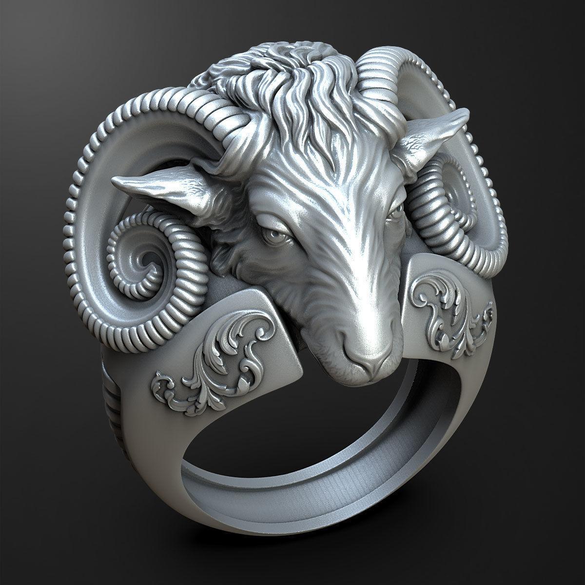 sheep Head ring 3D print model