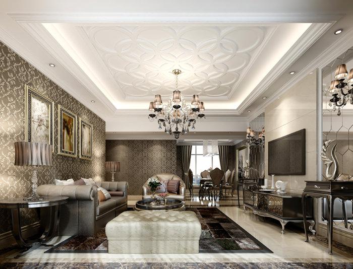 Luxury Living Room With Plasma Tv Model Max